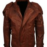 Men Guardian Of Galaxy Star Lord II Leather Jacket