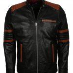 Men Mayhem Hybrid Fight Club Black Leather Jacket