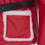 Men Santa Clause Red Furr Leather Jacket