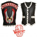 Men The Warriors Movie Black Eagle Biker Leather Vest
