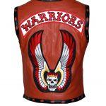 Men The Warriors Movie Tan Skull Biker Leather Vest