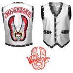 Men The Warriors Movie Tan White Eagle Leather Vest