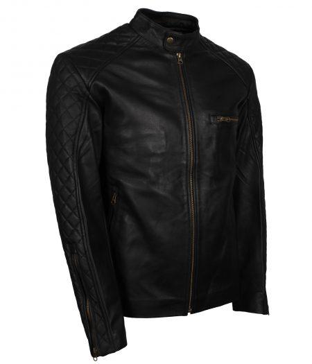 Men Vin Diesel Black Biker Leather Jacket