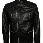 Men Vintage Styled Black Moto Leather Jacket