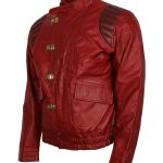 Mens Akira Kaneda Capsule Health Red Cause Leather Jacket Biker Jacket