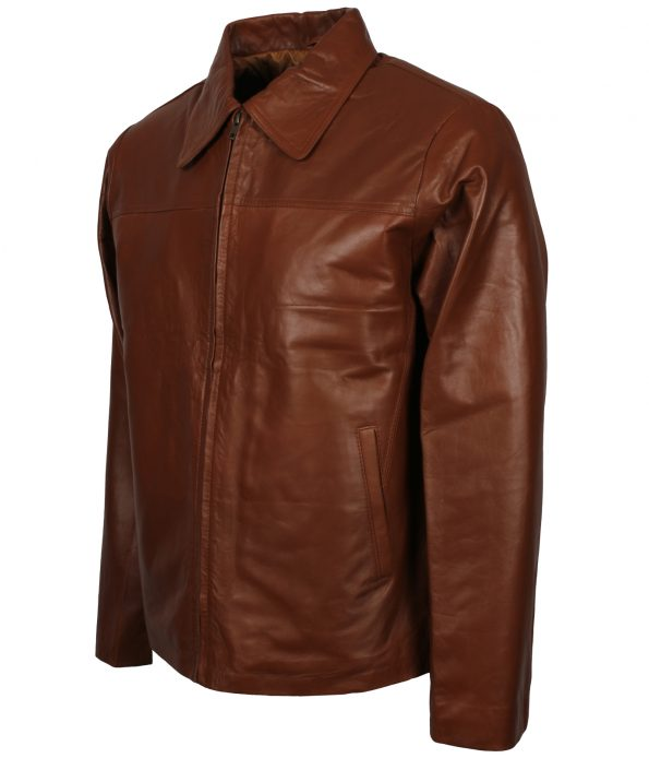smzk_3005-Mens-Casual-Brown-Shirt-Collar-Real-Biker-Leather-Jacket-sexy-outfits.jpg