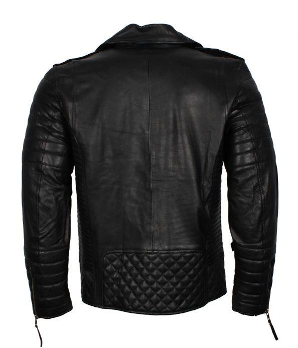 Mens Classic Brando Boda Biker Designer Quilted Biker Black Motorcycle Leather Jacket outfit