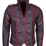 Micheal Jackson Lined Men Leather Jacket