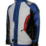 OverWatch Soldier 76 Men Multicolor White Leather Jacket