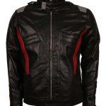 Overwatch Soldier 76 Mens Black Designer Leather Motorcycle Jacket Costume biker outfit