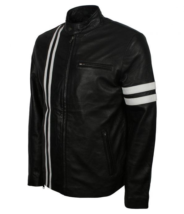 San Francisco Men Driver Mafia Black Leather Jacket