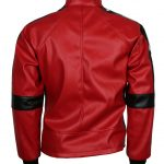 Smokey and the Bandit Burt Reynold Red Bomber Embroidered Cosplay Leather Jacket Costume biker
