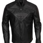 Superman Smallville Men Cosplay Black Leather Jacket