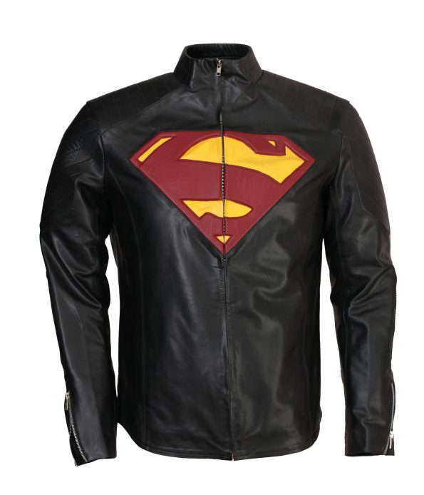 Superman Smallville Yellow Red Black Leather Jacket