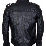 TNA AJ Styled Hooded Black Leather Jacket