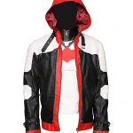 The Batman Arkham Knighs White And Black Leather Jacket Plus Vest