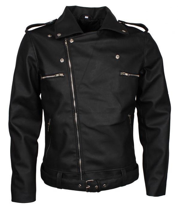 The Walking Dead Seasons Negan Boda Biker Black Leather Jacket costume