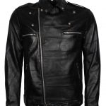 Walking Dead Negan Men Black Biker Leather Jacket costume
