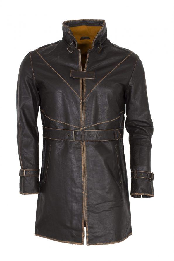 Watch Dog II Brown Gaming Leather Coat Costume