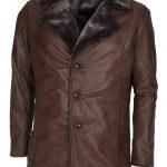 X Men Brown Wolverine Brown Furr Leather Coat