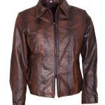 X Men Wolverine Brown Waxed Leather Jacket