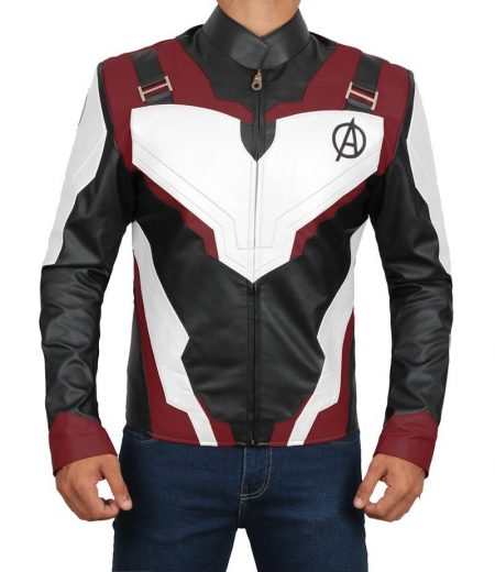 Avengers Endgame Captain America Quantum Leather Jacket