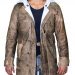 Bane Tom Hardy Shearling Brown Distressed Coat