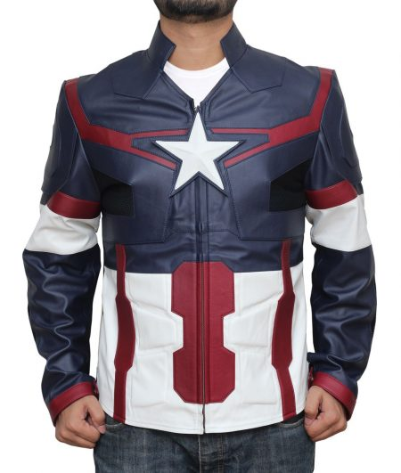 Avengers Endgame Ultron Captain America Leather Jacket