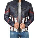 Avengers Endgame Infinity Distressed Captain America Leather Jacket