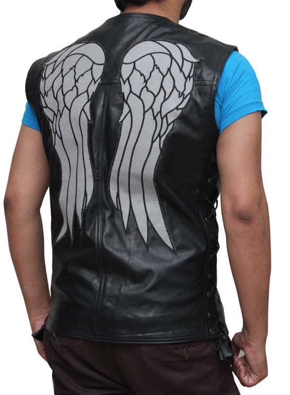 The Walking Dead Wings Daryl Dixon Leather Vest