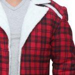 Deadpool Red Shearling Wade Wilson Jacket