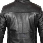 Bristol Winter Black Leather 3/4 Length Coat Mens