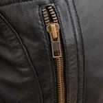 Lisa Black Hooded Leather 3 4 Length Coat Womens