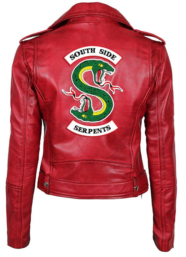 Riverdale Red Leather Cheryl Blossom Jacket