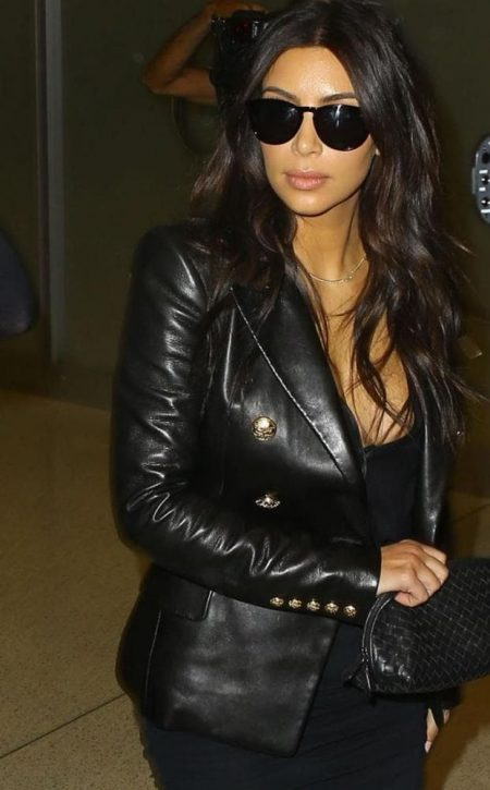 Kim Kardashian Double Breasted Jacket Blazer