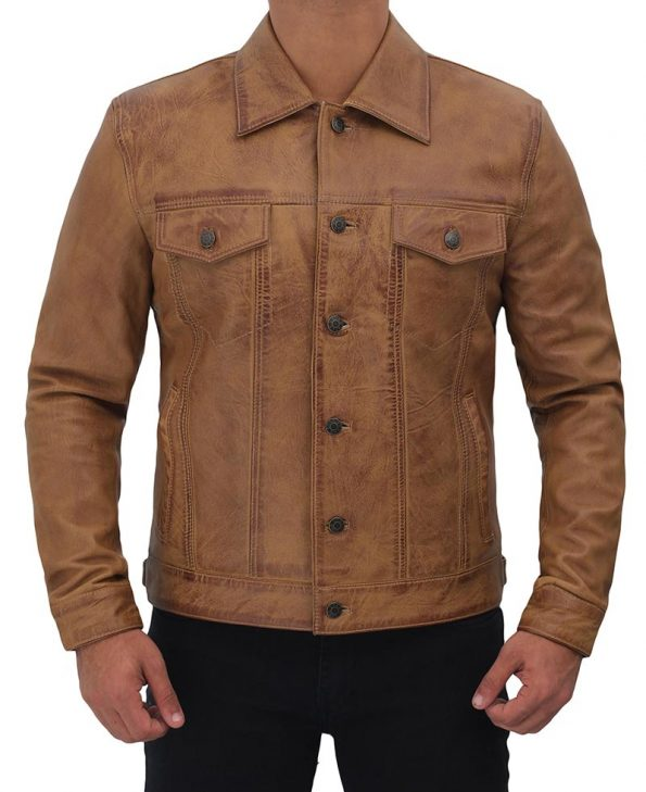 Mens-Trucker-Leather-Jacket-Tan-Distressed.jpg