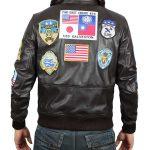 Flight Leather Bomber Top Gun Jacket