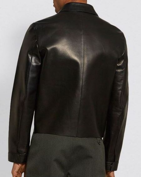 Mens Real Black Leather Jacket