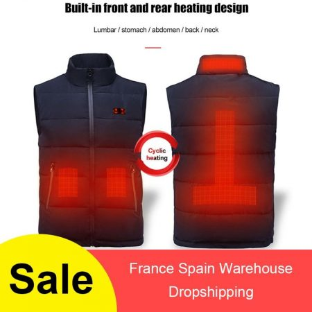 USB Charging Electric Heated Body Warmer Down Vest
