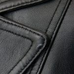 Womens Wide Lapel Two Button Black Blazer Coat