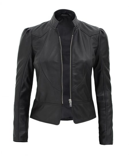 California Womens Black Stylish Leather Jacket