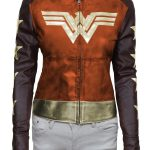 Wonder Woman Waxed Leather Jacket