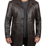 Dean Winchester Brown Distressed Jacket - 3/4 Length Winter Coat