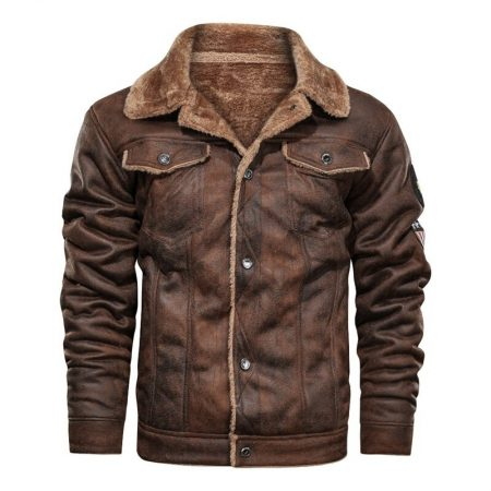 Aviator Brown Men's Leather Jacket