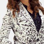 Donna Blake White Leather Blazer