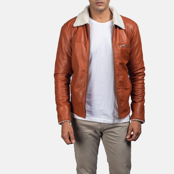 Dan Frost Tan Shearling Jacket