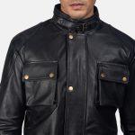 Dolf Black Leather Jacket