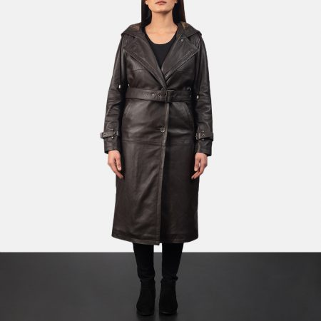 Fixon Hooded Brown Trench Coat