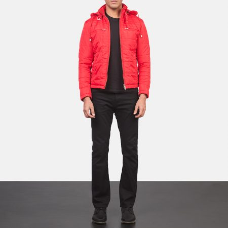 Alps Quilted Red Windbreaker Jacket