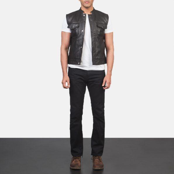Atlas Moto Brown Leather Vest